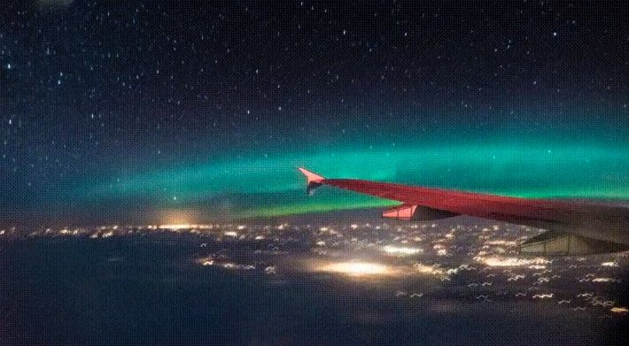 This Is What It Is Like To Fly Through The Northern Lights