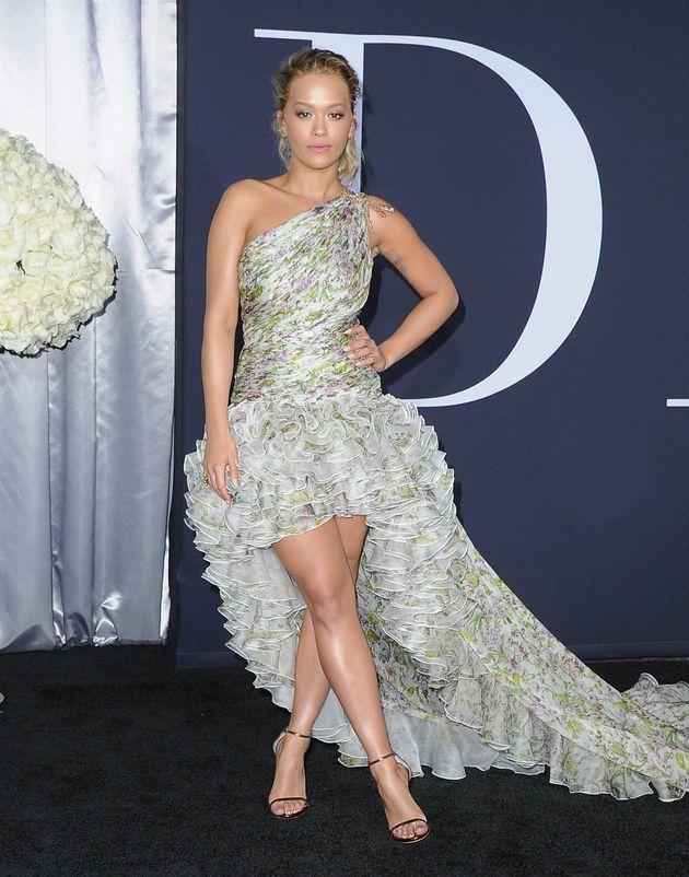 Dakota Johnson And Rita Ora Lighten Up The 'Fifty Shades Darker' Premiere In Pastel