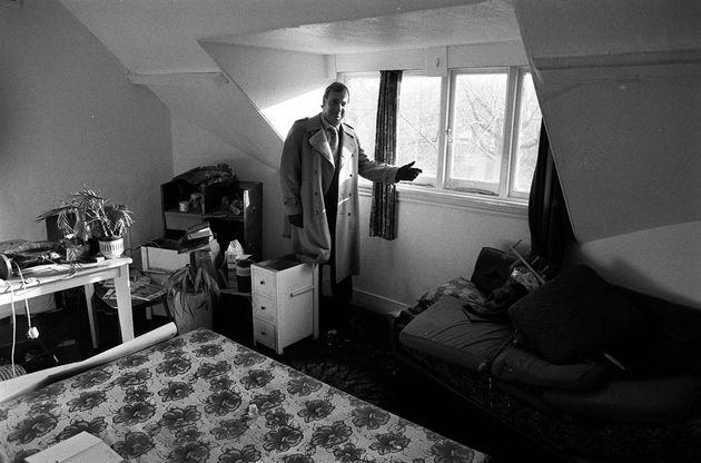 Estate agent Leon Roberts in Nilsen's attic room