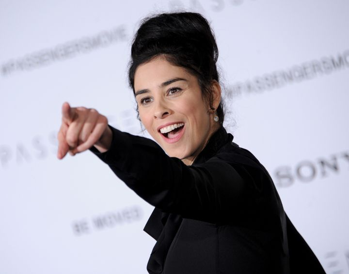 Sarah Silverman, pictured in December, wrote that even peaceniks can incite violence when moved by fear.
