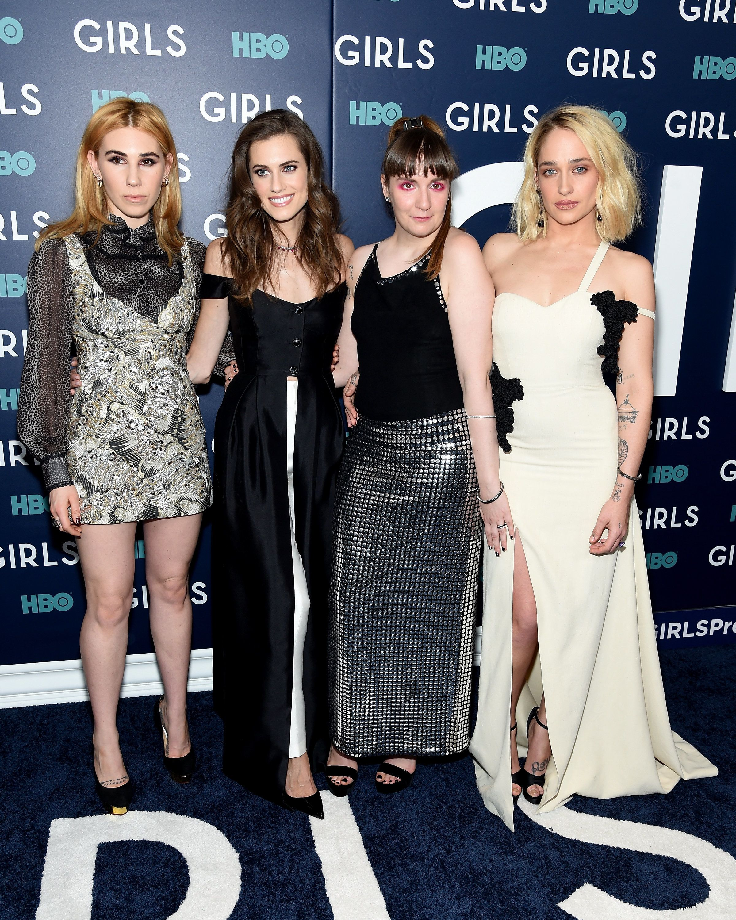NEW YORK, NY - FEBRUARY 02:  (L-R)  Zosia Mamet, Allison Williams, Lena Dunham and Jemima Kirke attend The New York Premiere Of The Sixth & Final Season Of 'Girls' at Alice Tully Hall, Lincoln Center on February 2, 2017 in New York City.  (Photo by Jamie McCarthy/Getty Images)