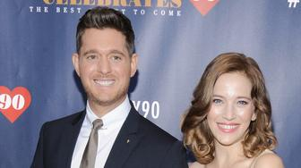 NEW YORK, NY - SEPTEMBER 15:  Michael Buble (L) and Luisana Lopilato attend Tony Bennett Celebrates 90: The Best Is Yet To Come at Radio City Music Hall on September 15, 2016 in New York City.  (Photo by Matthew Eisman/Getty Images)