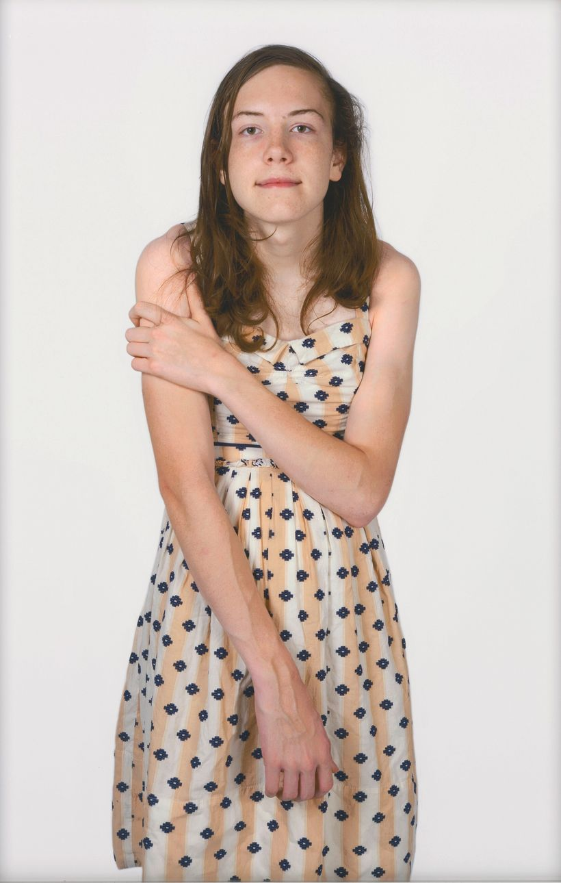 Carolyn Sherer's pigment print titled <em>Lucy, 15 Years Old</em>, on display as part of <em>The Outwin 2016: American Portra