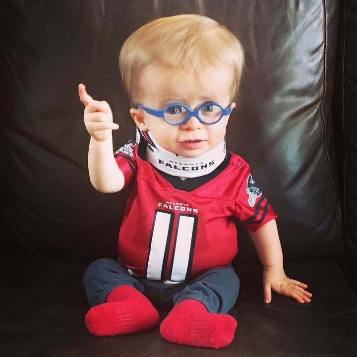 Wyatt Keeton is getting in the Super Bowl spirit.