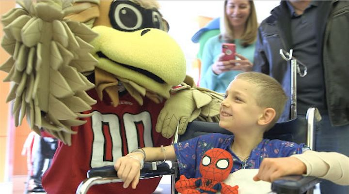 CHOA hosted a special pep rally in honor of the Super Bowl.