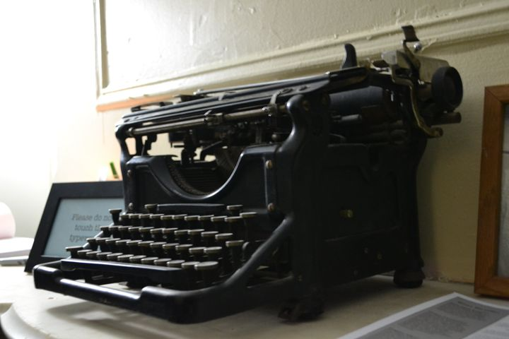 Langston Hughes' typewriter and piano are on display at his home for visitors to see