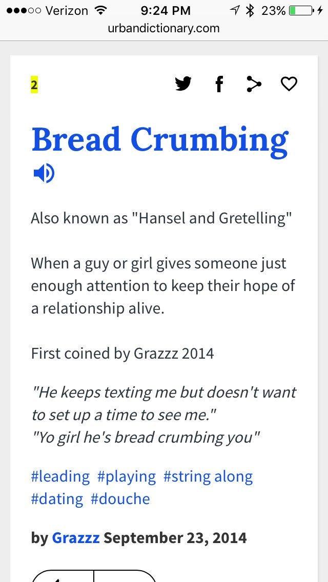 Dating breadcrumbs