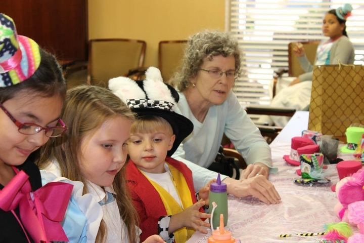 "For her 10th birthday, Ellie threw her party at the nursing home where her ""Granny"" is recovering."