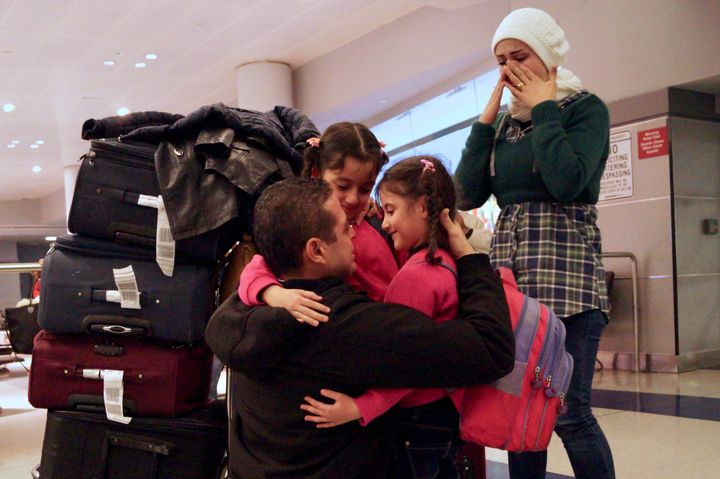 The Department of Homeland Security said Tuesday that it would allow 872refugees to enter the United States this week.
