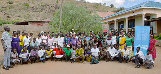 The beneficiaries of the Karamoja Economic Empowerment project (KEEP) after completing a one-week training on business manag