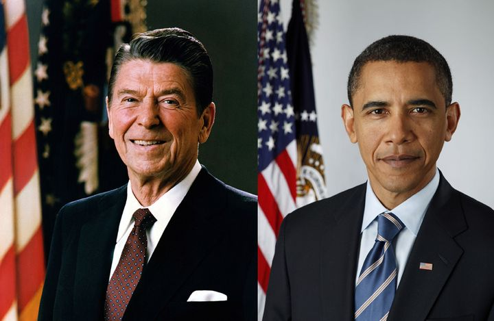 Ronald Reagan and Barack Obama