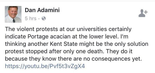 Michigan GOP Official Calls For 'Another Kent State' For Campus