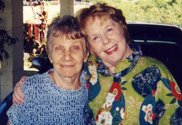 Mitchell's late wife, Lynda with his mother, Ann MItchell.