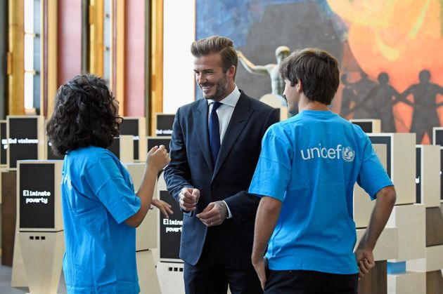 The former footballer's work with Unicef is well