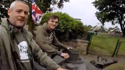 Just Some Guys In England Driving A Tank To The Gas
