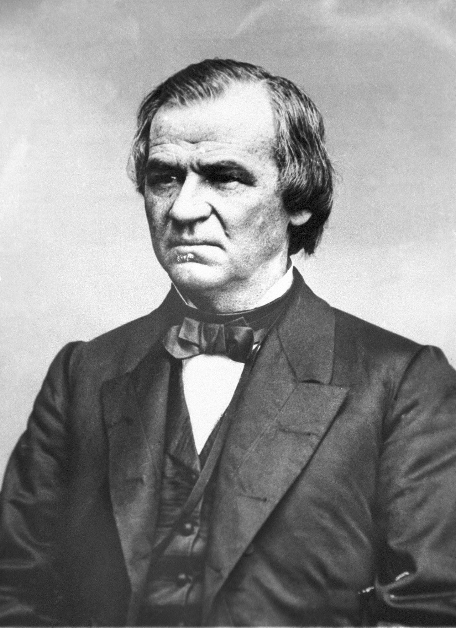 An engraving showing President Andrew Johnson IN 1868. The House approved 11 articles of impeachment against Andrew Johnson in 1868, arising essentially from political divisions over Reconstruction following the Civil War. After a 74-day Senate trial, the Senate acquitted Johnson on three of the articles by a one-vote margin each and decided not to vote on the remaining articles. (Library of Congress)