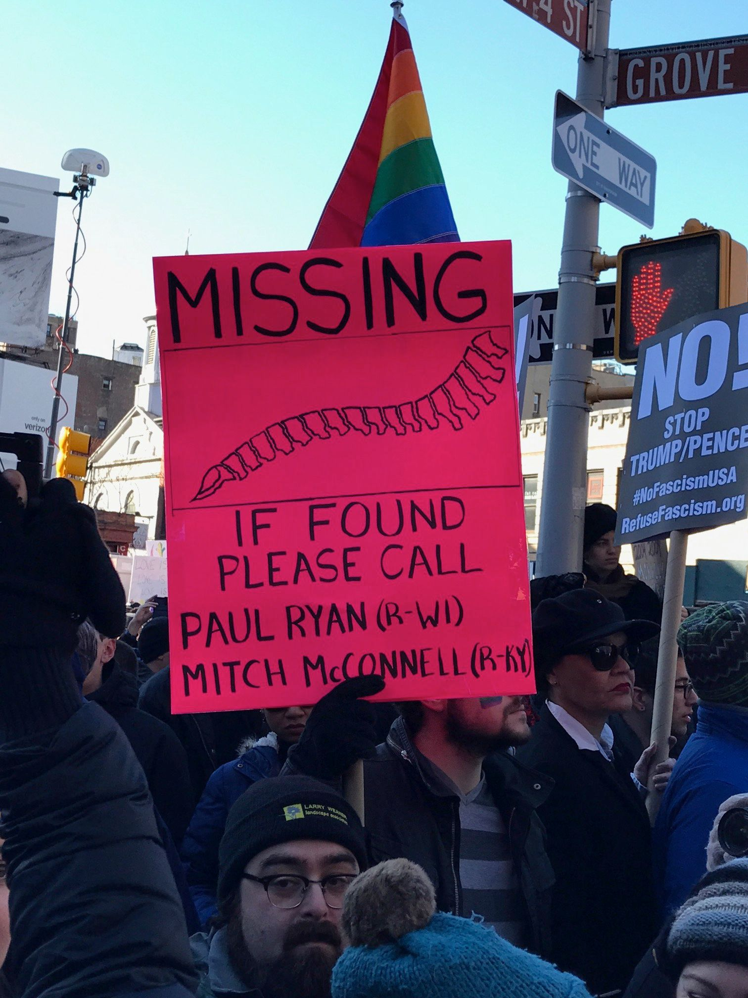 24 Of The Best Signs From New York's LGBTQ Solidarity