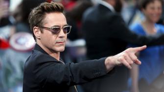"Cast member Robert Downey Jr.  poses at the european premiere of ""Avengers: Age of Ultron"" at Westfield shopping centre, Shepherds Bush, London April 21, 2015. REUTERS/Stefan Wermuth"
