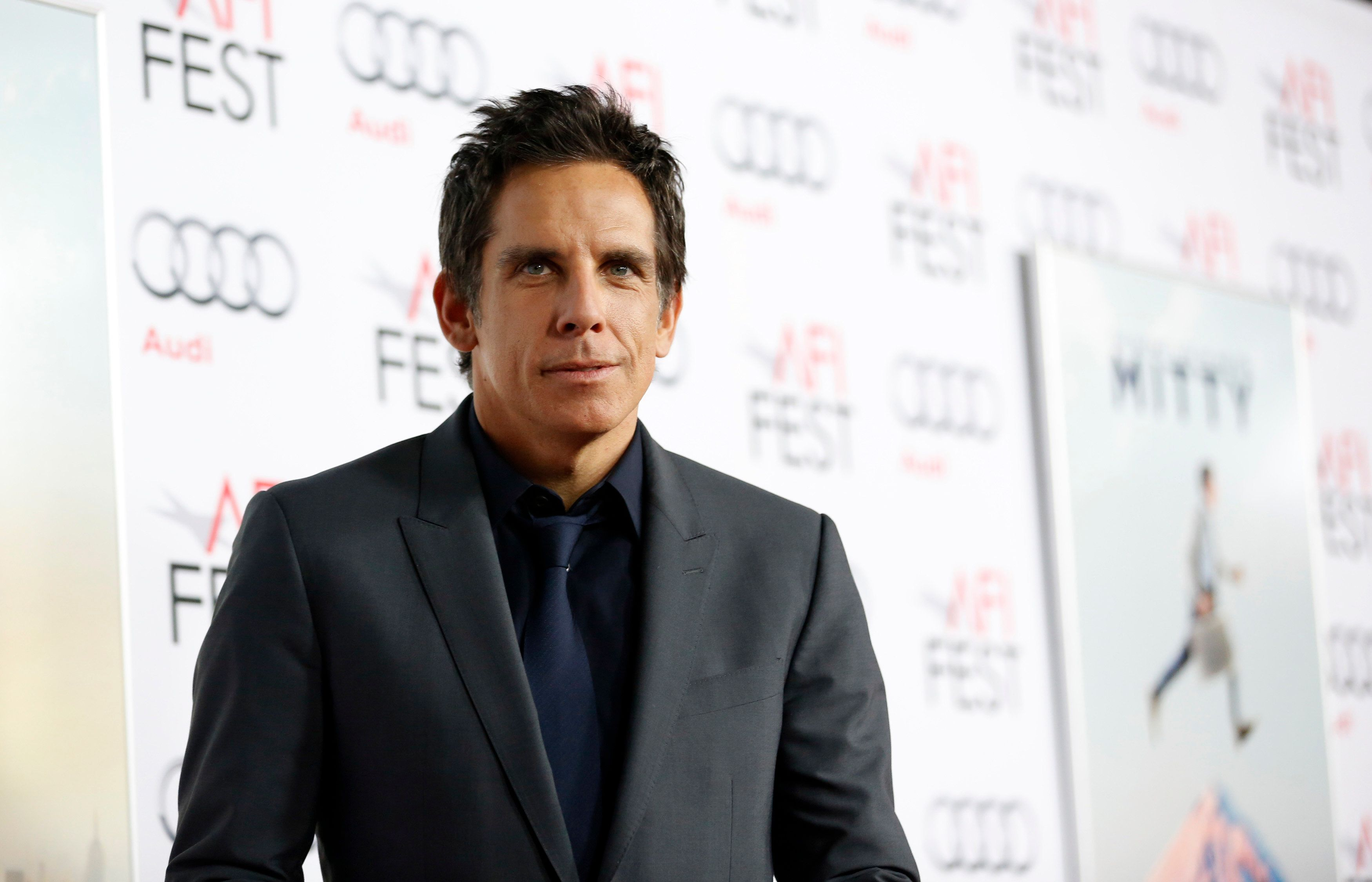 "Director and cast member Ben Stiller poses at the premiere of ""The Secret Life of Walter Mitty"" during AFI Fest at the TCL Chinese theatre in Hollywood, California November 13, 2013.    REUTERS/Mario Anzuoni  (UNITED STATES - Tags: ENTERTAINMENT)"
