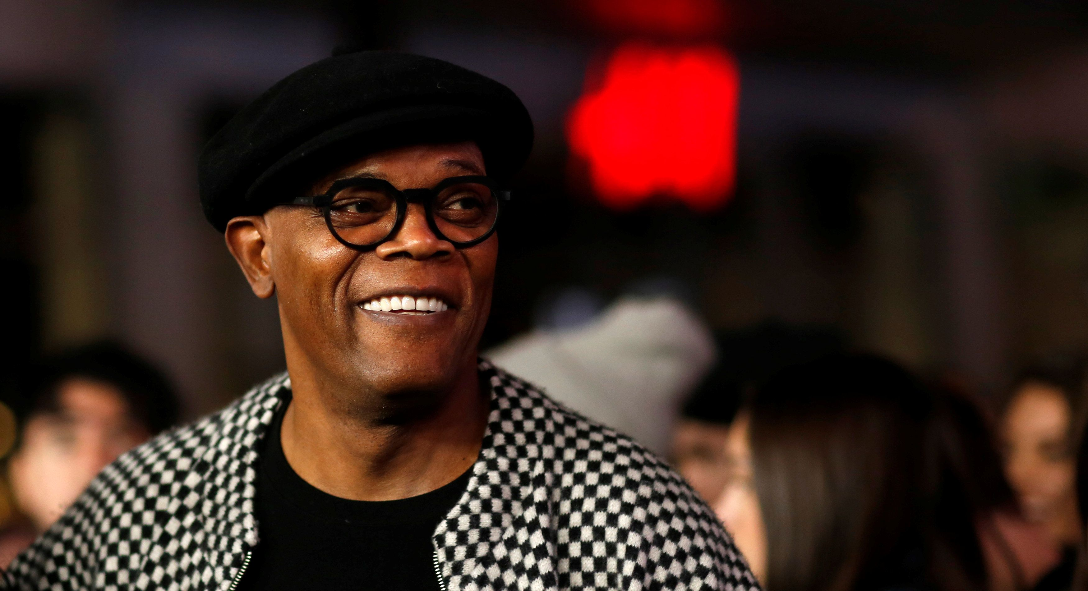"Samuel L. Jackson poses at the premiere of ""xXx: Return of Xander Cage"" in 2017."