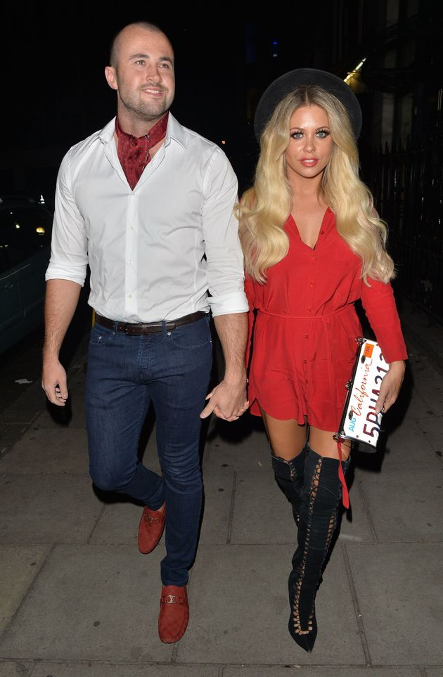 Bianca and CJ on a night out last