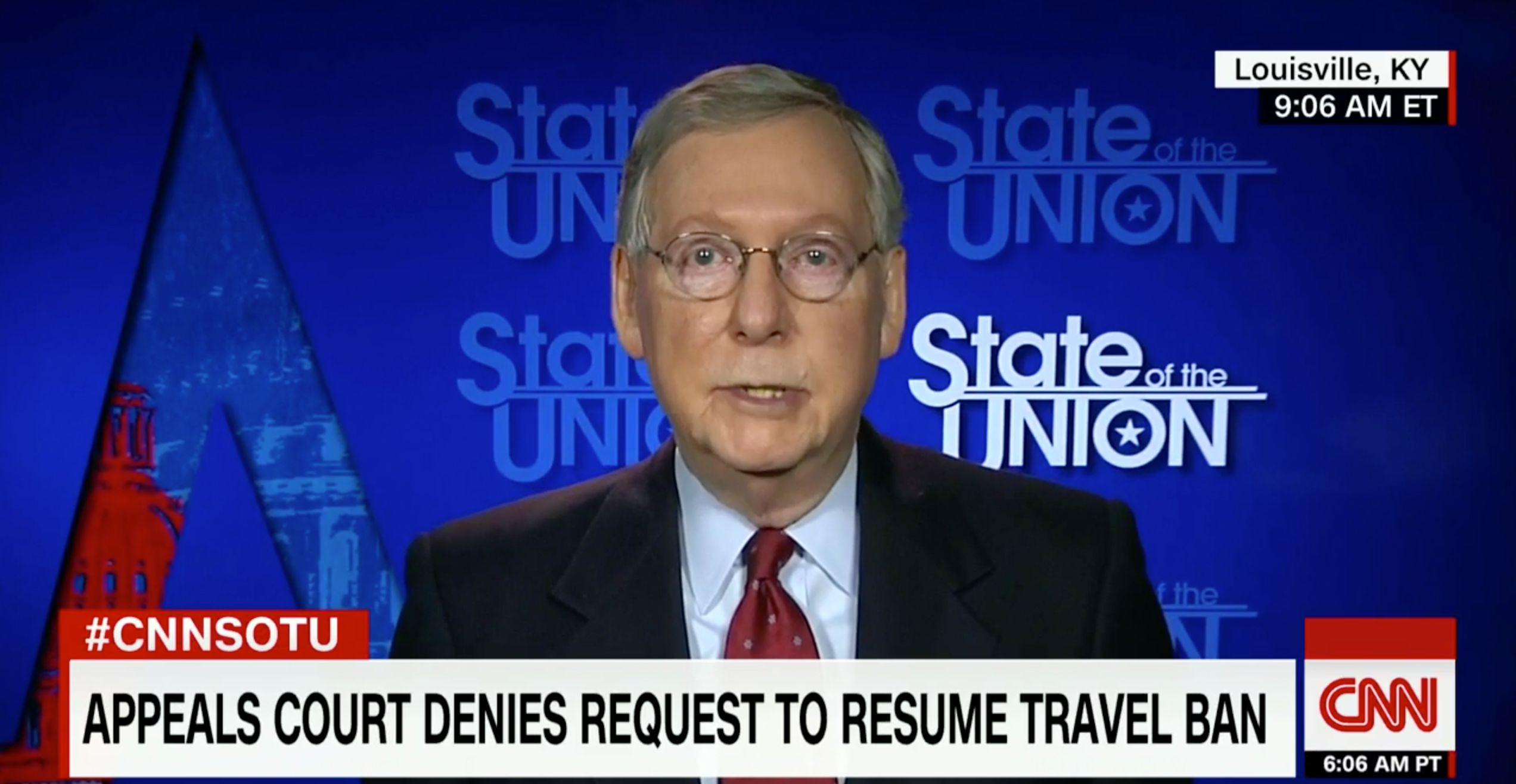 Leading Republican Mitch McConnell Runs From Trump's Putin