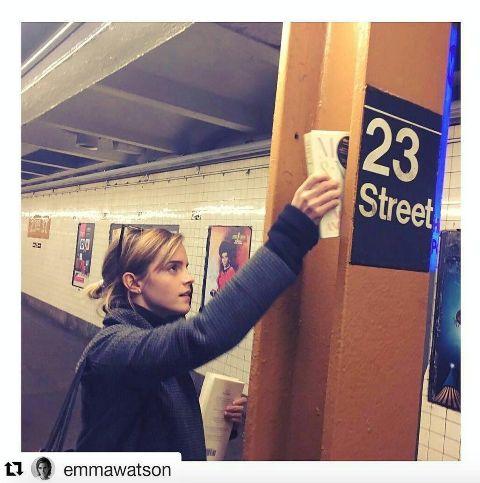 Emma Watson leaving books