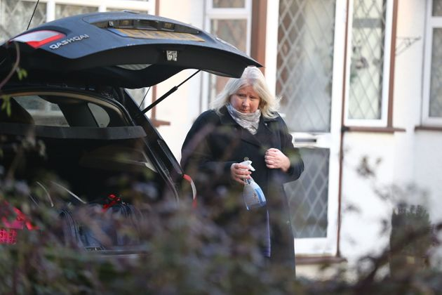 Kirsten Farage, the wife of former UKIP leader Nigel Farage, leaves the family home at Downe, Kent on