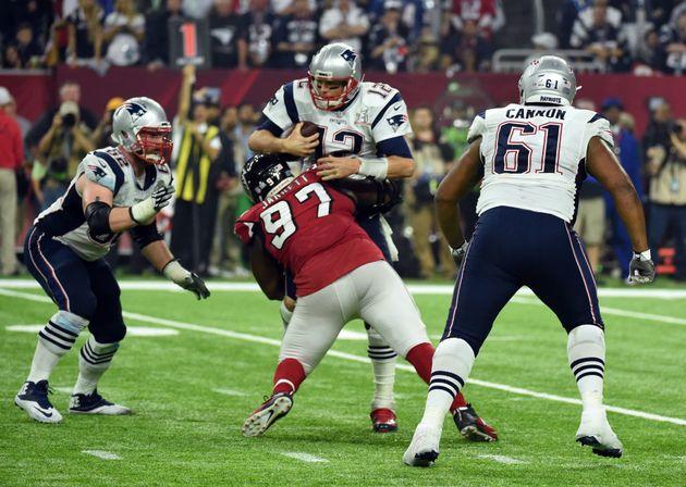 The New England Patriots beat the Atlana Falcons