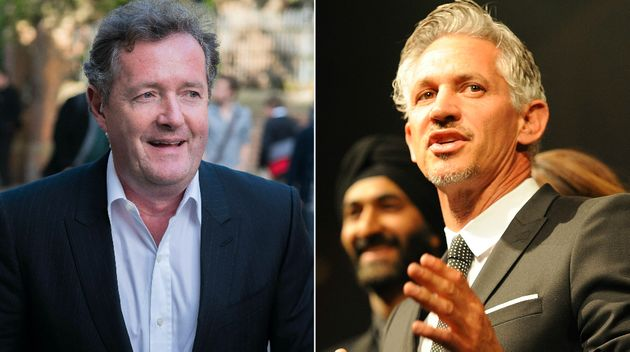 Piers Morgan and Gary Lineker clashed over the apparent hacking of David