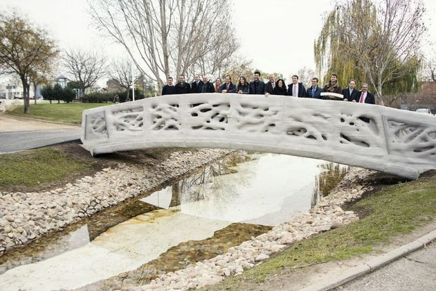 You Can Now Walk Across The First 3D Printed Bridge In The