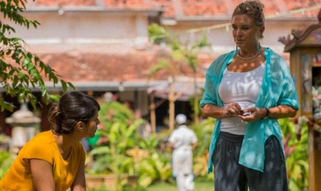 Amanda stars withAmrita Acharia in 'The Good Karma Hospital', whose character she has to persuade...
