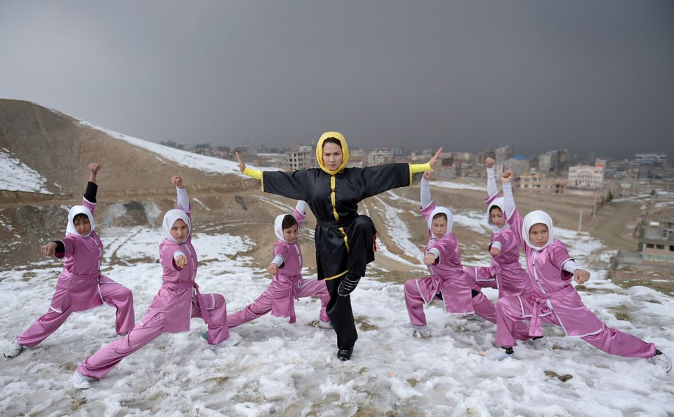 Afghanistan's First Female Wushu Trainer Teaches Young Women To Slash The