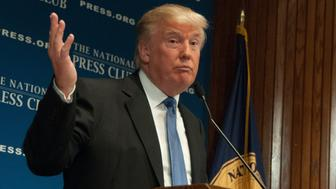 WASHINGTON - MAY 27, 2014 - Real estate mogul Donald Trump speaks to a luncheon at the National Press Club.