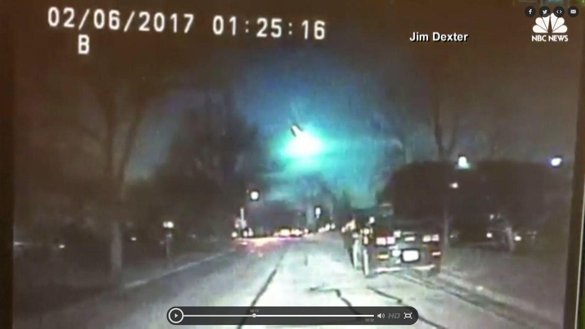 Videos Capture Massive Green Fireball Streaking Across America's