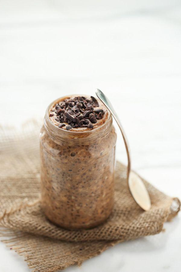 "<strong>Get the <a href=""http://www.blissfulbasil.com/energizing-maca-almond-butter-cacao-overnight-oats/"" target=""_blank"">En"