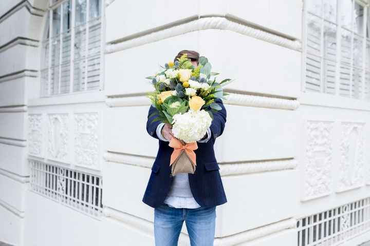 """<p><em>BloomThat Milo Bouquet, $68, available at</em> <a rel=""""nofollow"""" href=""""https://www.bloomthat.com/flowers/the-milo"""" target=""""_blank"""">bloomthat.com</a></p>"""