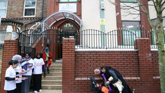 LONDON, UNITED  KINGDOM - FEBRUARY 5: People visit Finsbury Park Mosque during Visit My Mosque Day held by Muslim Council of Britain (MCB) in London, United Kingdom on February 5, 2017. Over 150 mosques in United Kingdom host members of other religions on Visit My Mosque Day. (Photo by Tayfun Salci/Anadolu Agency/Getty Images)