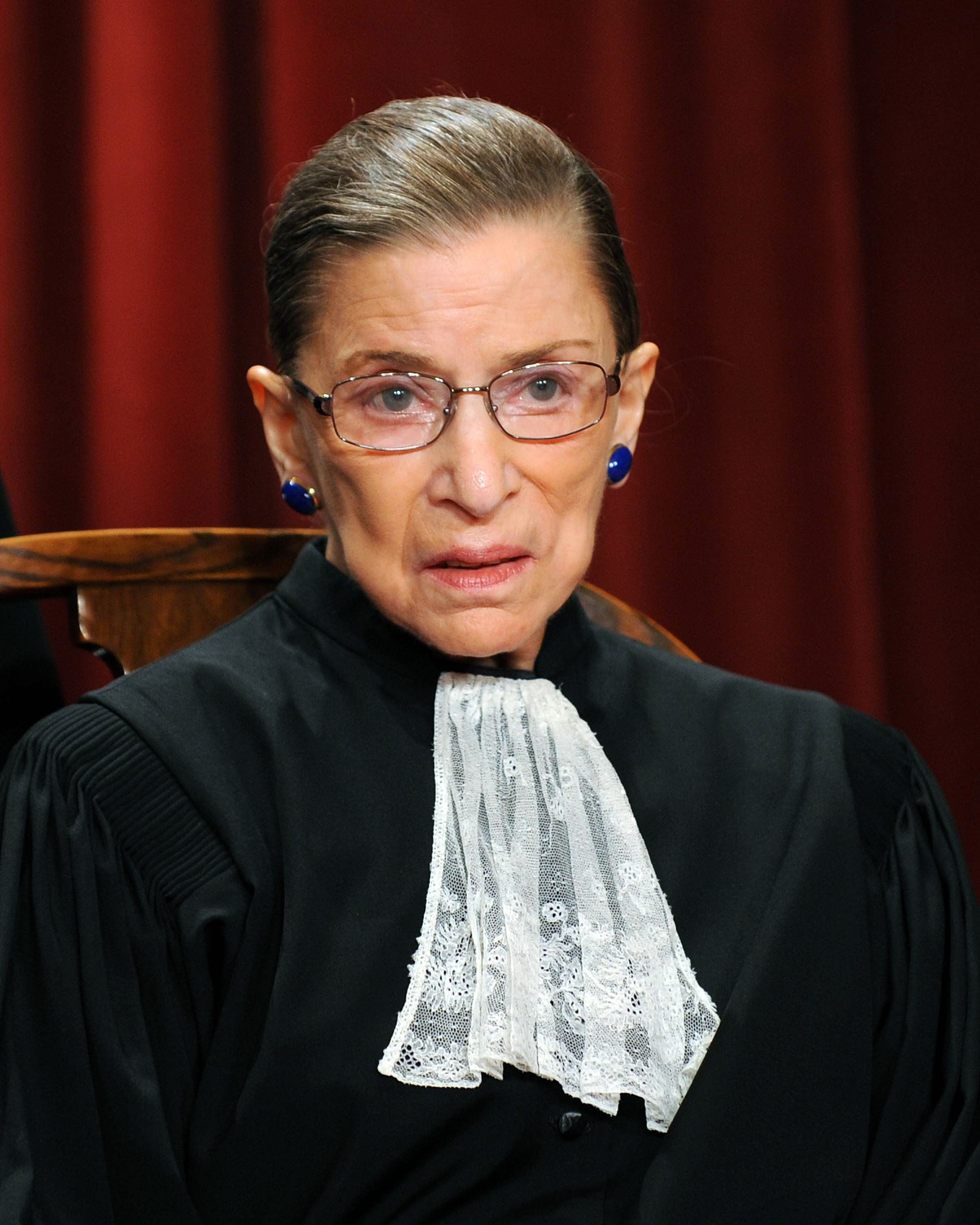 US Supreme Court Associate Justice Ruth Bader Ginsburg participates in the courts official photo session on October 8, 2010 at the Supreme Court in Washington, DC.   AFP PHOTO / TIM SLOAN (Photo credit should read TIM SLOAN/AFP/Getty Images)