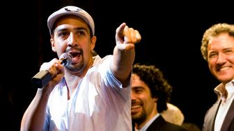 NEW YORK, NY - JANUARY 09:  Actor Lin-Manuel Miranda attends the curtain call for the final performance of 'In The Heights' on Broadway at the Richard Rodgers Theatre on January 9, 2011 in New York City.  (Photo by Steven A Henry/WireImage)