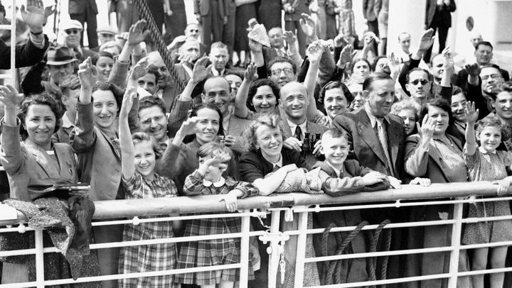 Jewish refugees aboard the S.S. St. Louis in 1939.