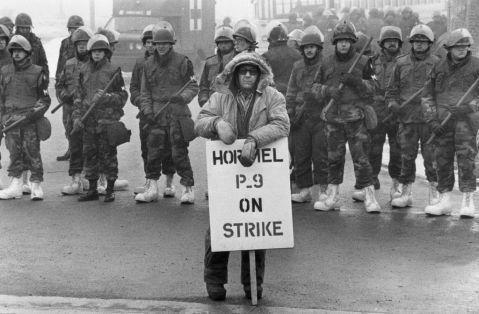 The National Guard helping break the Hormel Strike