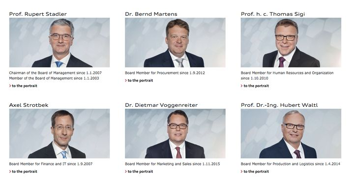 These are the men of Audi AG's management board.
