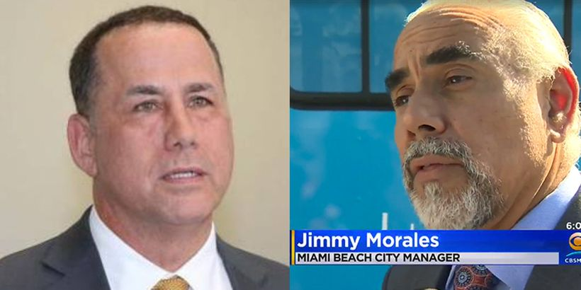 Left: Miami Beach Mayor Phil Levine. Right: Miami Beach City Manager Jimmy Morales