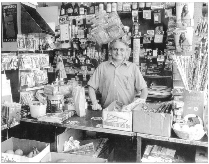 Moses Kozinski at his store in Hollywood in 1971. His son went to UCLA and became a lawyer, then a judge.