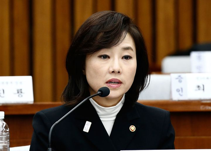 Cho Yoon-sun, South Korea's former minister of Culture, Sports and Tourism, was indicted on Tuesday. She faces corruption and