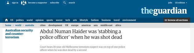 The trial ofAbdul Numan Haider was also