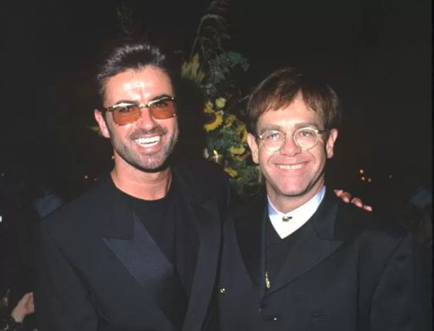 George Michael with Sir Elton John, who is paying tribute to him