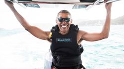 You Wish You Could Be As Chill As Obama On A Kitesurfing