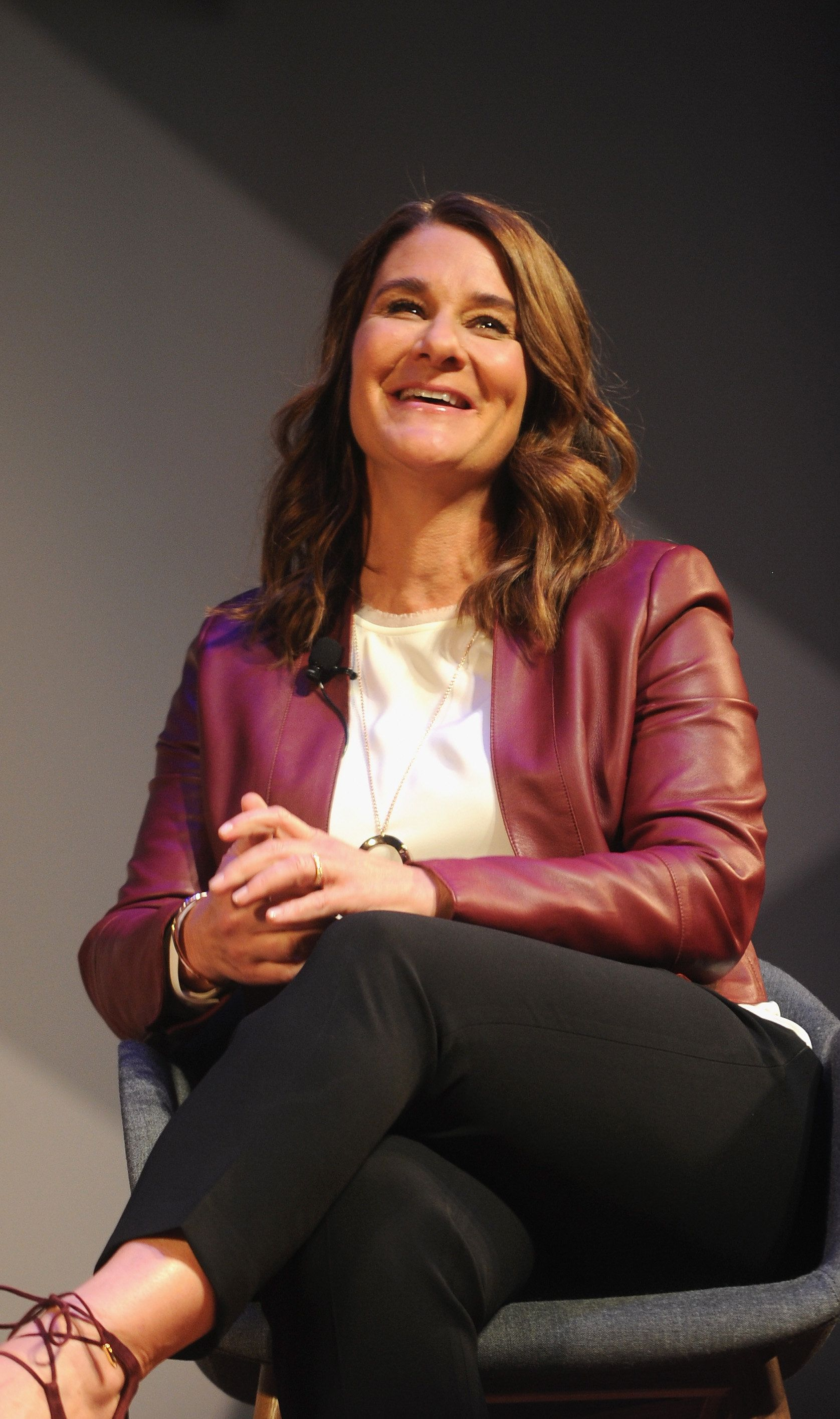 NEW YORK, NY - NOVEMBER 03:  Philanthropist Melinda Gates speaks onstage during the Fast Company Innovation Festival 2016 - Melinda Gates & Facebook's Regina Dugan at Skirball Center, NYU on November 3, 2016 in New York City.  (Photo by Brad Barket/Getty Images for Fast Company)